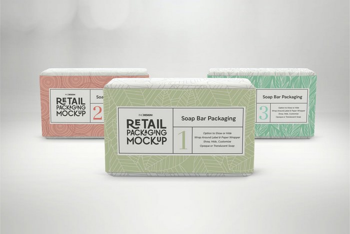 Retail Soap Bar Packaging Mockup