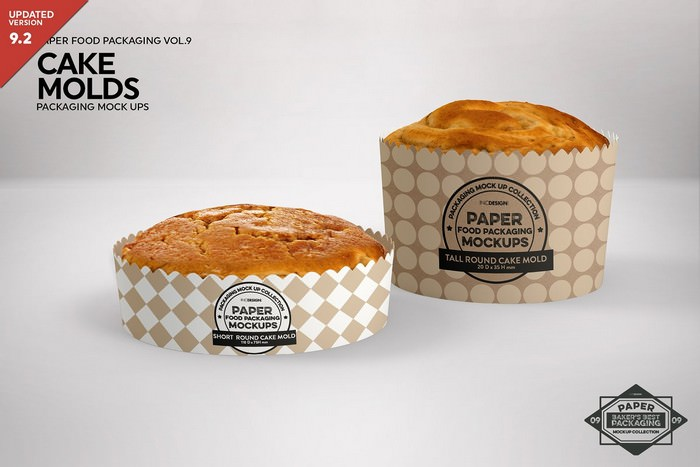 Round Cake Mold Packaging Mockup