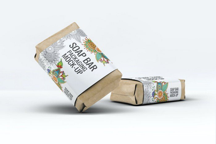 Soap Bar Paper Sleeve Packaging Mock-Up