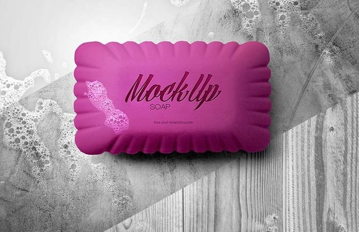 Soap Mock-up in PSD