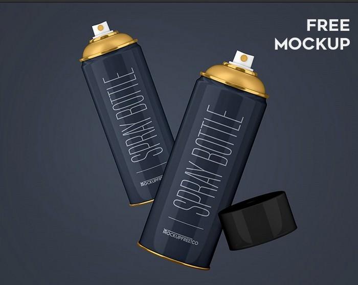 Spray Bottle – Free PSD Mockup