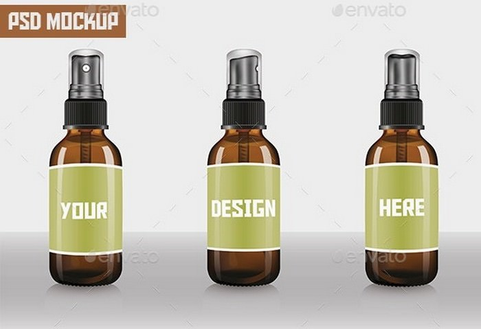 Spray Bottle Mock-up
