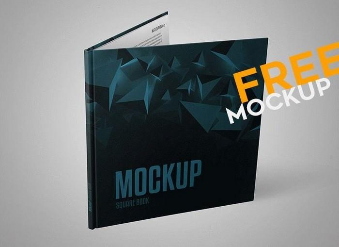 Square Book – Free PSD Mockup