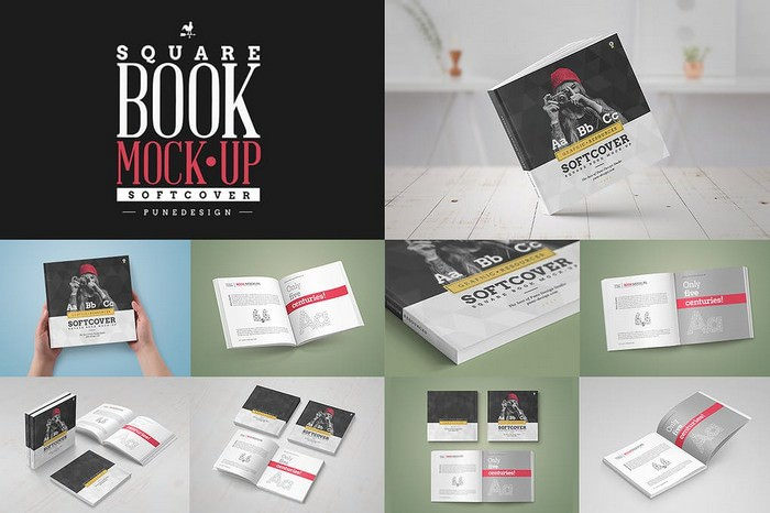 Square Book Mock-Up Softcover Edition