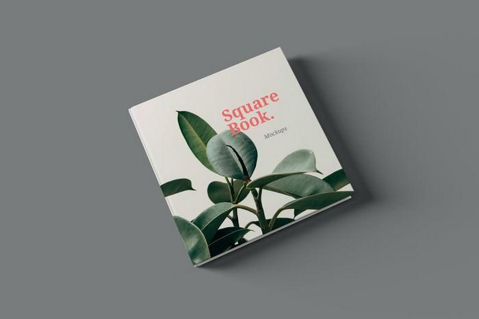 Square Book Mockups