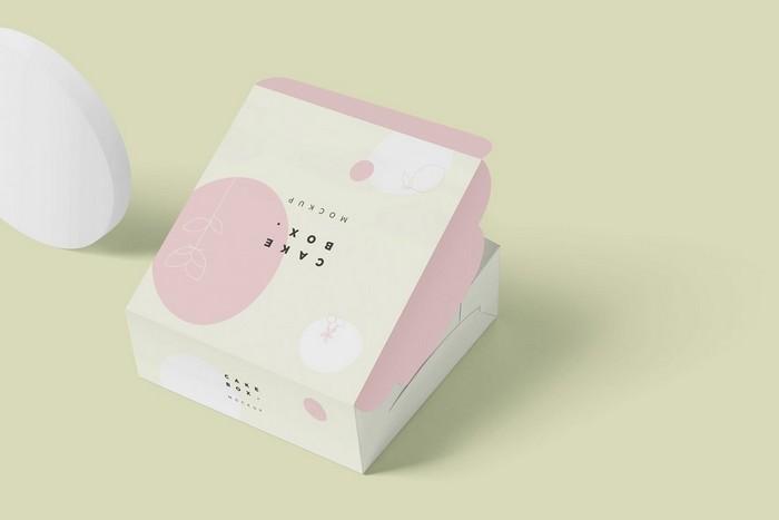 Cake Cardboard Box Mockups