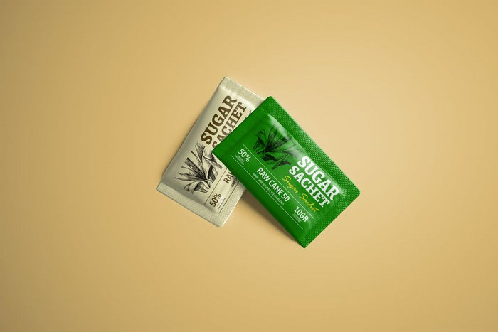 Sugar Sweetener Sachet Mockup