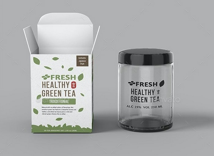 Tea Packaging Box Mockup