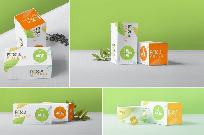 Tea Packaging Box Mockups