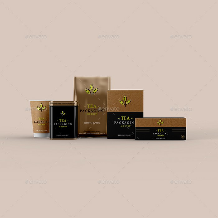 Tea Packaging Mockup