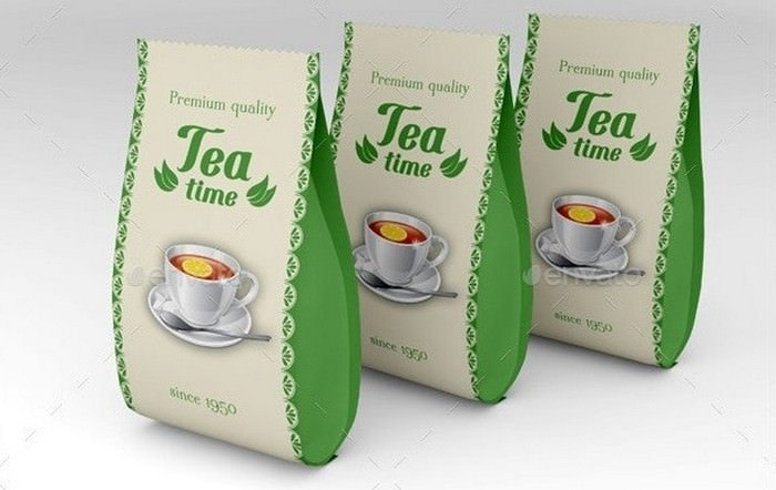 Tea Packet Mockup