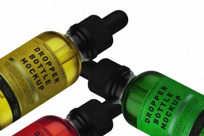 Unique Dropper Bottle Mockup