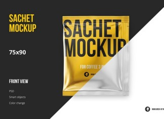 Wet Wipes Sachet Mockup