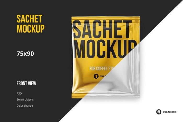 Wet Wipes Sachet Mockup