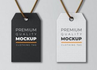 Clothing Tag Mockup Template