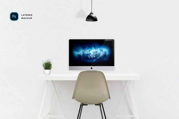 Modern Workspace mockup Kit