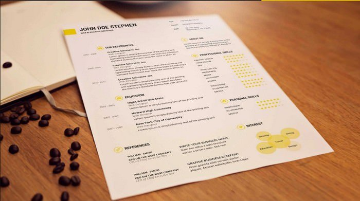 Resume Mockup IN PSD