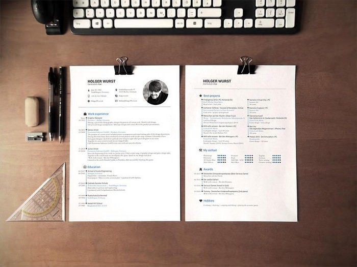 Resume Mockups on Desk
