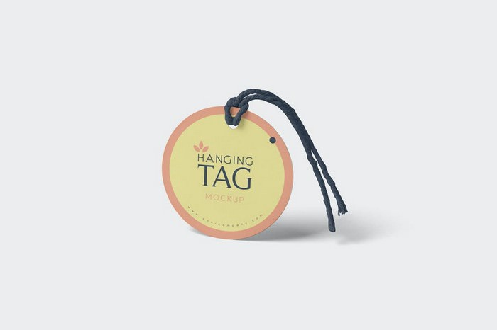 Rounded Hanging Tag Mockups