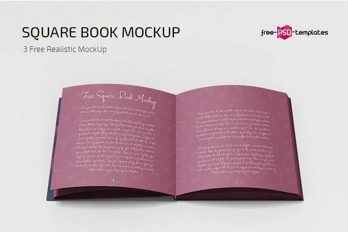Square Book Mockup Templates