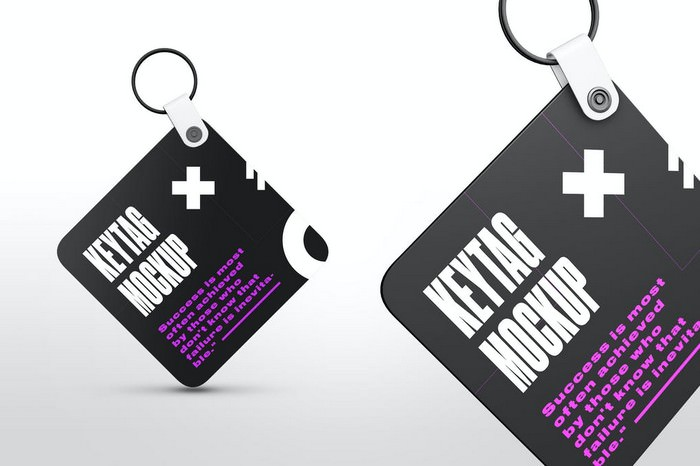 Square Key Tag Mockups
