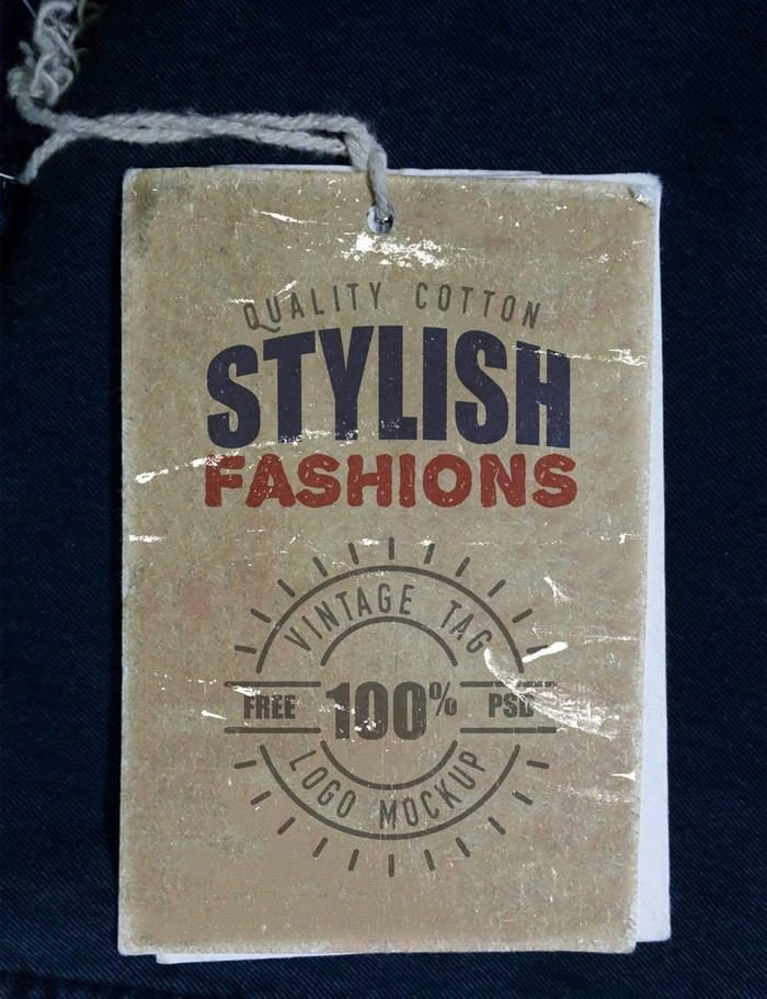 Vintage Clothing Label Mockup