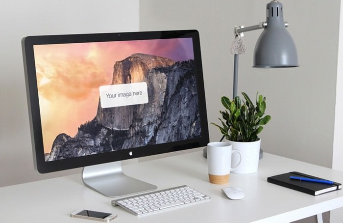 Workspace Display Presentation Mockup