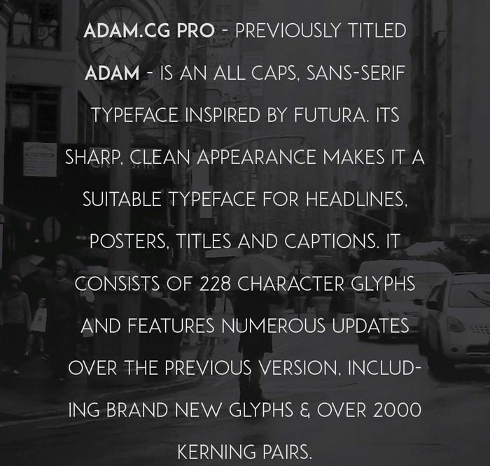 Adam.CG Pro Free Typeface