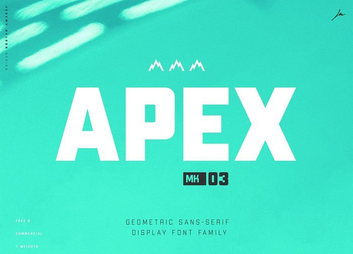 Apex MK3 Free Robust Display Typeface