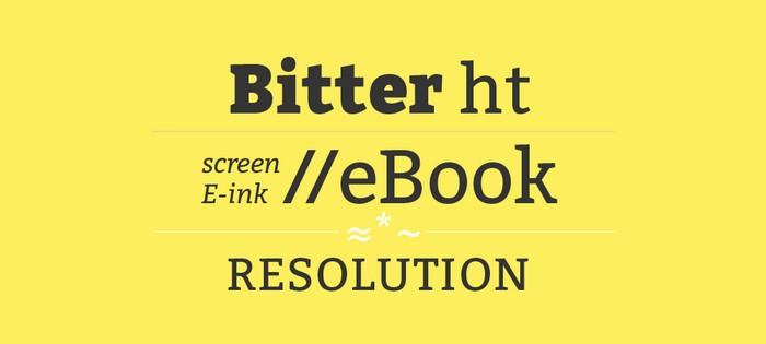 Bitter Ht Free Font