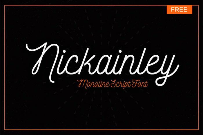 Nickainley Script - Free Font