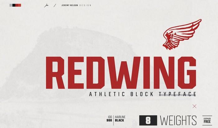 Redwing Free Athletic Block Displat Typeface