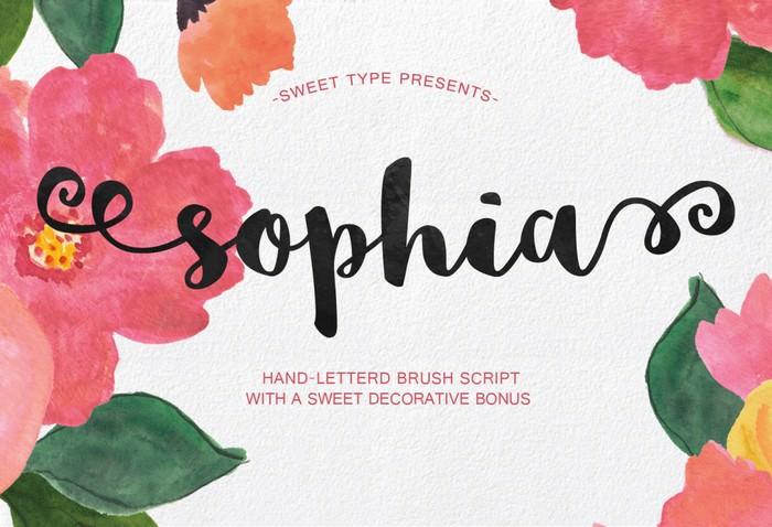 Sophia – Free Handlettered Brush Script Font
