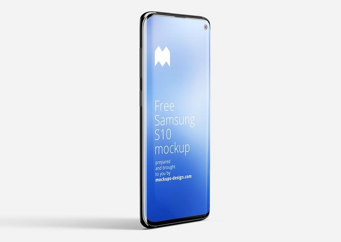 Samsung Galaxy S10 Smartphone Mockup