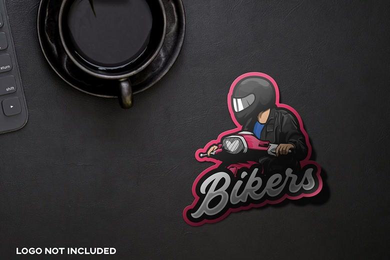 Esport Logo Sticker Mockup