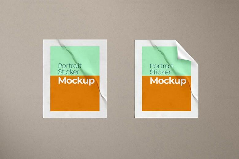 Portrait Sticker Mockup