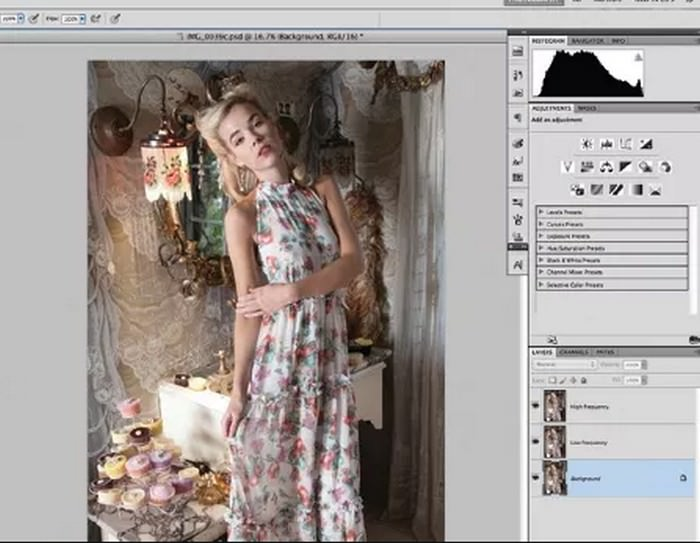 Retouch images in Photoshop with frequency separation