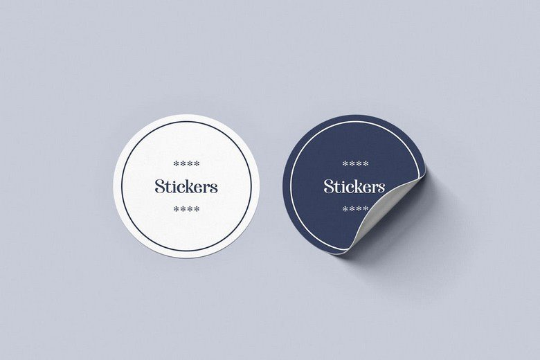 Rounded Stickers Mockup