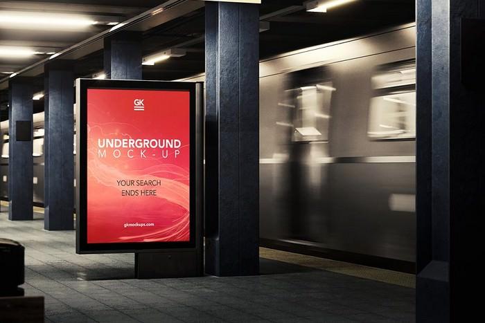 3D Underground Subway Mock-up