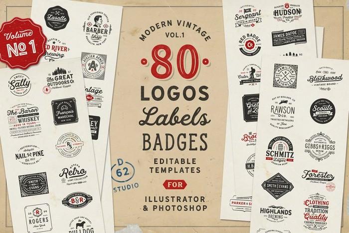 80 Modern Vintage Logos vol 1