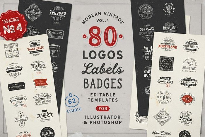 80 Modern Vintage Logos vol. 4