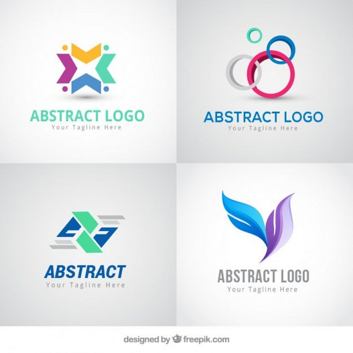 Abstract Colored Logos