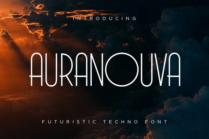 Auranouva - Techno Font