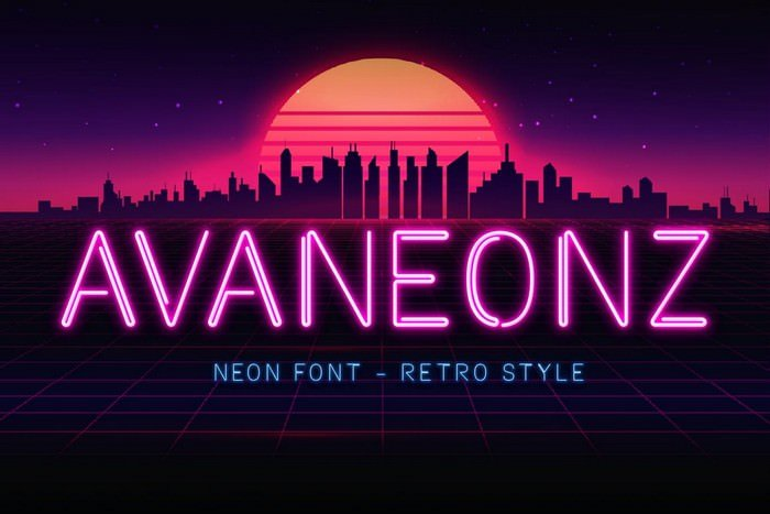 Avaneonz - Neon Font