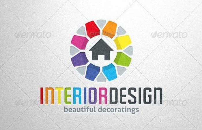 Beautiful Interior Design Logo Template