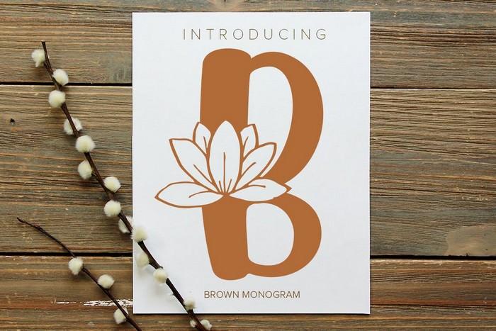 Brown Monogram Font