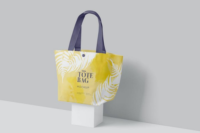 Bucket Shaped Tote Bag Mockups