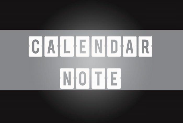 Calendar Note TFB