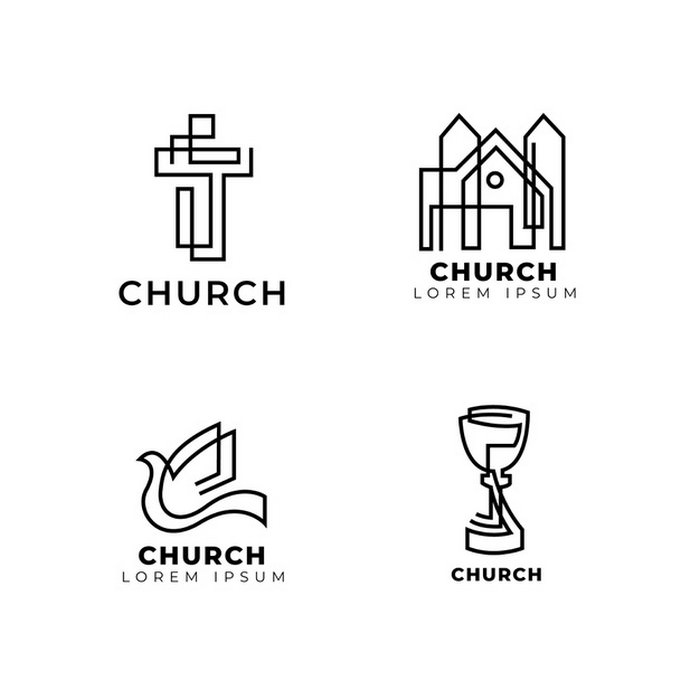 Church Logo Template Collection Free