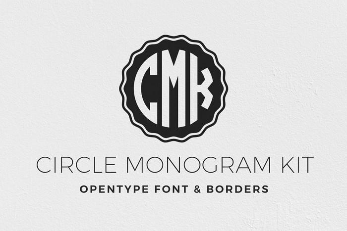 Circle Monogram Font Kit